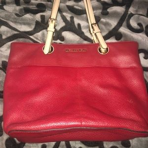 Michael Kors Tote red bag and wallet